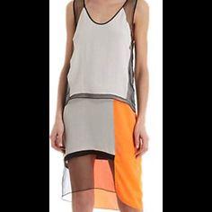 Helmut Lang Colorblock dress sz 0 Worn once! Perfect condition. Originally $550! Helmut Lang Dresses Mini