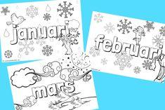 Vi växer så det knakar - Målarbilder med januari, februari och mars