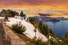 There is no hotel amenity that could top the views at Crater Lake Lodge, as it's set on the rim of a... - Shutterstock