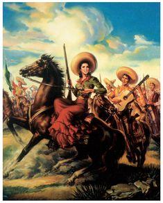 Vintage Mexican Calendar Girls | Always remember, buckaroos n buckarettes: