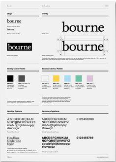 bourne brand #identity #guideline