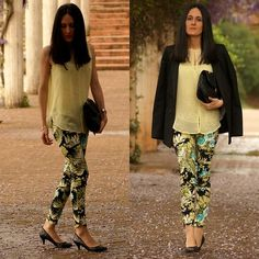 ::printed trousers::