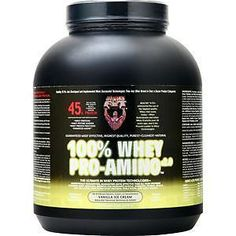Protein Shakes and Bodybuilding: Healthy N Fit 100% Whey Pro-Amino Vanilla Ice Cream 5 Lbs BUY IT NOW ONLY: $59.07