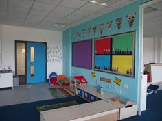Inside one of the classrooms in our new primary school