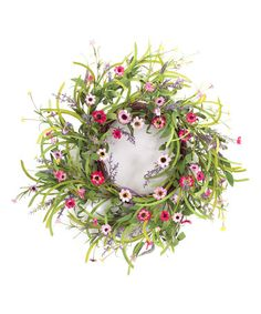 I love this #floral wreath.  It looks fantastic and is great for #summer #spring.  This is a 32'' Wild Flower Wreath