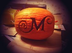 1000 images about pumpkin carving templates on pinterest for Monogram pumpkin templates