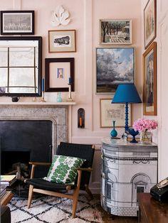 Pale Pink Living Room by Ben Pentreath #pinkground #farrowandball