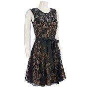 Beautiful Sleeveless Lace Dress w Ribbon Belt Dresses Women Burlington Coat Factory