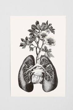 Cirque D'Art Lungs Art Print - would make a cool tattoo