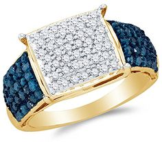 Size 9 – 10K Yellow Gold Blue & White Round Diamond Engagement Ring – Channel Set Square Princess Center Setting Shape (1.00 cttw.) by Sonia Jewels - See more at: http://blackdiamondgemstone.com/colored-diamonds/jewelry/wedding-anniversary/engagement-rings/size-9-10k-yellow-gold-blue-white-round-diamond-engagement-ring-channel-set-square-princess-center-setting-shape-100-cttw-com/#sthash.kHeC1jjp.dpuf