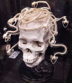 Turn To Stone, Symphonic Metal, Modern Witch, Witch Aesthetic, Skull Jewelry, Skull And Bones, Medusa, Blackwork, Tattoo Artists