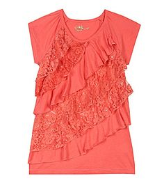 Copper Key 716 Lace Ruffle Top #Dillards