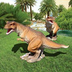 Park Avenue Collection Scaled Trex Dinosaur Statue