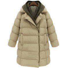 Women winter thicken parka with hoodie