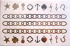 Flash tattoo~classy Tats~jewelry inspired~metallic gold & silver~Chloe~4 Sheets - Hipster Jewelry Temporary Tattoos Hipster Blog, Hipster Jewelry, Hipster Accessories, Flash Tattoos, Metallic Gold, Silver, Tattoo Blog, Tatting, Chloe