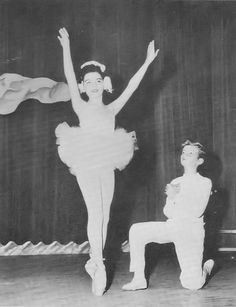 *ANNETTE Funicello: Dancing the lead in a scene from 'Swan Lake' at age 12