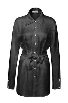 HEDVÁBNÁ HALENKA ČERNÁ – MOLO7 Blouses, Coat, Jackets, Shirts, Fashion, Woman, Down Jackets, Moda, Sewing Coat