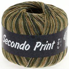 SECONDO print II 509-gold/grey green/beige