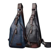 """Universe of goods - Buy """"Men PU Leather Vintage Fashion Sling Chest Bag Travel Cross Body Messenger Small Male Shoulder Bag Anti-Theft Casual Packs"""" for only USD. Cheap Crossbody Bags, Casual Bags, Luggage Bags, Bag Storage, Travel Bags, Sling Backpack, Leather Men, Cross Body, Vintage Fashion"""