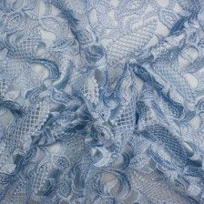 Bluebell Embroidered Tulle  online - Joel & Son Fabrics (London)