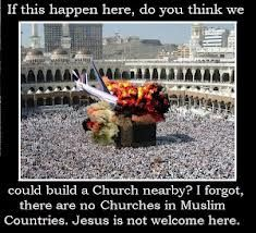 """Pinner said, """"Muslims acknowledge, respect, and love Jesus (pbuh). It is false that there is no Churches in Muslim Countries. There are Churches in Syria, Jordan, Holy Land, Lebanon, Egypt, Sudan, Iraq, Turkey, Iran, Kuwait and talk of a first Coptic Orthodox Church to be built in Saudi Arabia"""" Yet the Muslims are MURDERING THE CHRISTIANS!! NOT A RELIGION OF PEACE!"""