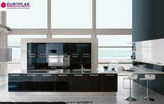#Luxury Vetro #Modular #Kitchen For more details Visit : http://www.europlak.in/