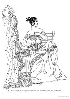 37 Best Historical Fashion Coloring Pages images in 2016