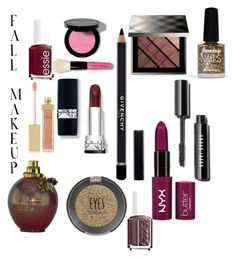 """Fall Makeup!"" by tigerlilyfashion ❤ liked on Polyvore featuring косметика, Givenchy, Essie, Burberry, Bobbi Brown Cosmetics, AERIN, Topshop, Limedrop и fallbeauty"
