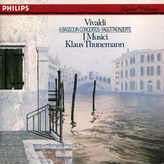 """Antonio Vivaldi """"6 Bassoon Concertos"""". Performed by I Musici, directed by Klaus Thunemann. Label: Philips, 1985. Made in West Germany."""