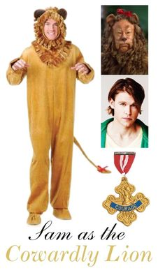 Sam as the Cowardly Lion by samevans17 on Polyvore