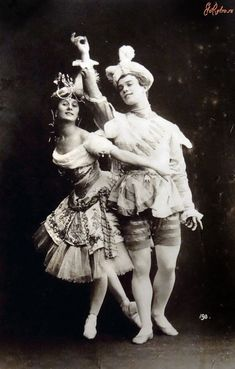 Avant-garde dancer bodies--originals/ BOSTOCK/ Nijinski & Pavlova ~ Pavillon d'armide