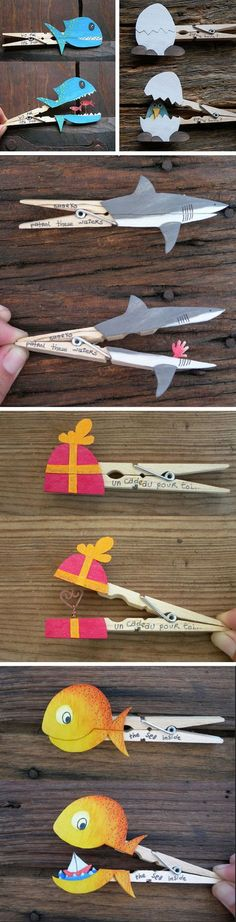 Clothes Peg Crafts | 18 DIY Summer Art Projects for Kids to Make | Easy Art Projects for Boys                                                                                                                                                                                 Más