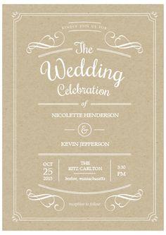 Rustic Celebration Costco Wedding Invitation