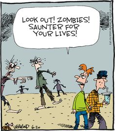 Reality Check on Gocomics.com Halloween Humor, Halloween Cartoons, Halloween Quotes, Halloween Items, Vintage Halloween, Super Funny, Really Funny, Zombie Cartoon, Reality Check