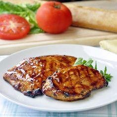 Brown Sugar and Balsamic Glazed Chicken - whether grilled or baked this easy recipe is a different take on sweet and sour chicken with more robust flavors. Check out the recipe for a photo of the amazing club sandwiches I made with these chicken breasts.