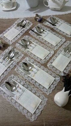 table napkin layout – Home Decorating