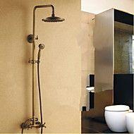 Antik Duschsystem Regendusche / Handdusche inklusive with  Keramisches Ventil Zwei Griffe Drei Löcher for  Antikes Messing ,  – EUR € 244.01
