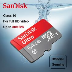 SanDisk Ultra micro SD card 64GB 32GB 16GB 128GB 8GB microSDHC/micro SDXC UHS-I Memory Card 80MB/s TF Card For Smartphone  Price: 9.00 & FREE Shipping  #tech|#electronics|#gadgets|#lifestyle Smartphone Price, Full Hd Video, Usb Drive, My Memory, Card Reader, Sd Card, Iphone 5s, Cards Against Humanity, Memories