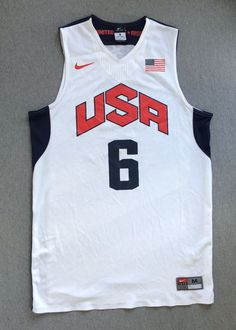 NIKE Jersey USA OLYMPIC LEBRON JAMES #6 Dri-Fit Cleveland Cavaliers Excellent! M #Nike #Jerseys