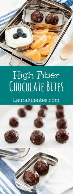You must try these delicious high fiber chocolate bites. Fiber has never tasted this good. Or should I say; that chocolate has not been this good-for-you.