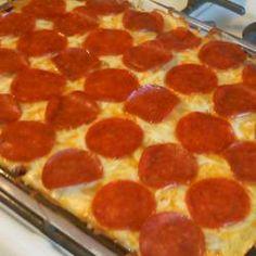 Bubble Pizza Casserole - kid friendly meal