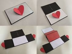 Heart lock accordion card by Sheetal Khajure- Arty Hearty Pop Up Cards, Cute Cards, Diy Cards, Handmade Anniversary Gifts, Shaped Cards, Heart Crafts, Explosion Box, Love Craft, Greeting Cards Handmade