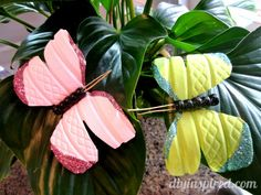 Recycled Water Bottle Butterfly- cute for gift wrapping embellishments