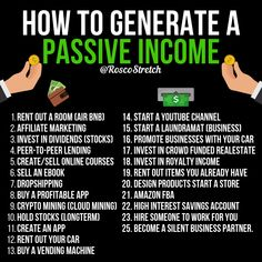 How to generate a passive income! 💵 How to generate a passive income! Earn Money From Home, How To Get Money, Money Today, Big Money, Life Quotes Love, Wisdom Quotes, Business Money, Online Business, Financial Tips
