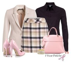 """Office outfit: Rose - Black"" by downtownblues ❤ liked on Polyvore featuring Rene, Furla and Bling Jewelry"