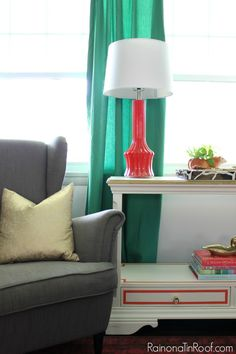 The Best Green Color Combinations for Decorating Those might just be my favorite lamps in the whole house paired with my favorite curtains.