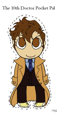 10th Doctor paper doll Cause we all need a doctor with us