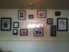 Family Room Wall, with Last Name Center.