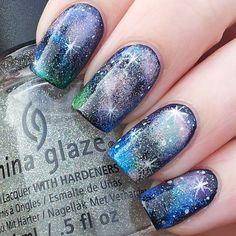 galaxies | @katiescreativenails