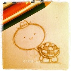 Right now I am working on some cute country critters! So last night I pulled out my sketchbook and started creating a turtle. I wanted to give this little turtle some cowboy boots but I couldn't. Turtle Sketch, Country Critters, Cute Sketches, Cute N Country, Picts, Art Background, Tribal Art, Cute Cartoon, Turtles